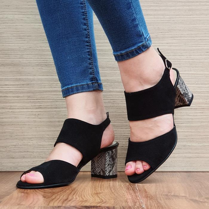 Sandale Piele Naturala Negre Sasha 2
