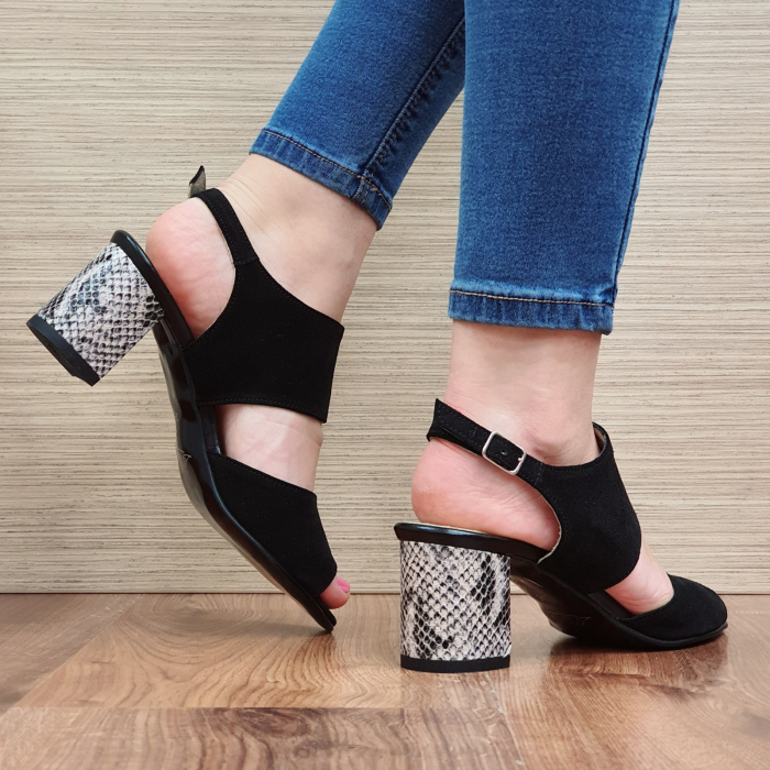 Sandale Piele Naturala Negre Sasha 3