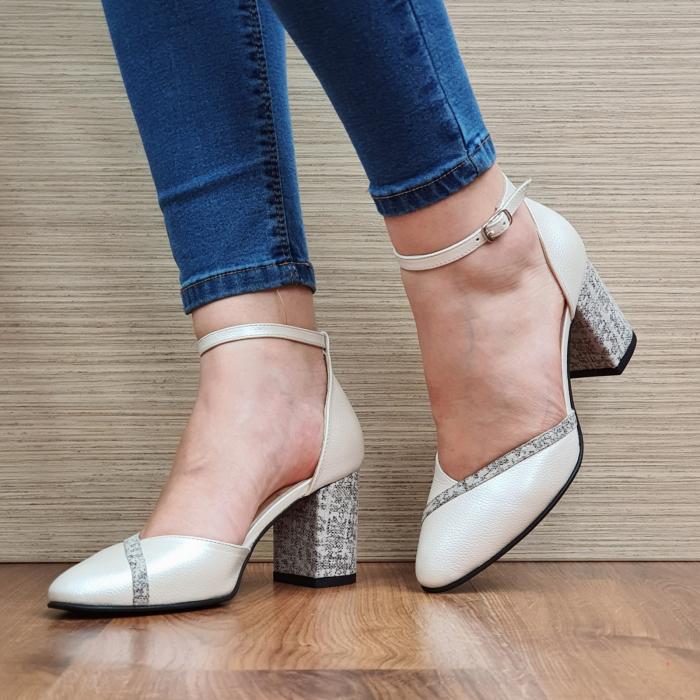 Pantofi Dama Piele Naturala Bej Barbara D02321 2