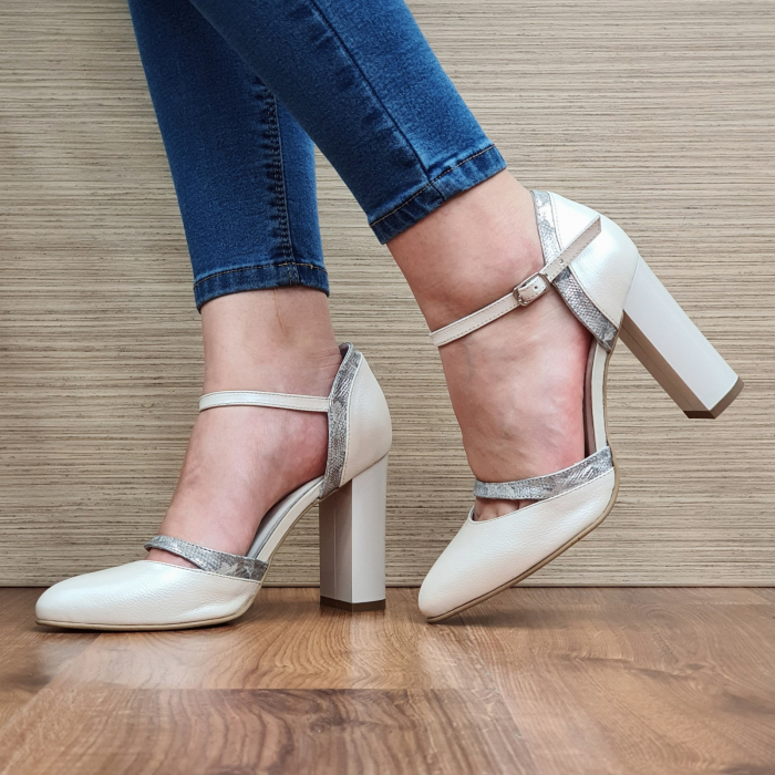 Pantofi Dama Piele Naturala Bej Cala D02323 [2]