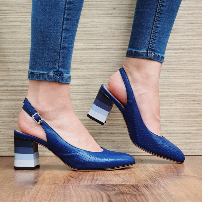 Pantofi Dama Piele Naturala Albastri Rada D02324 [2]