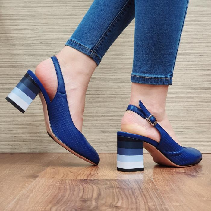 Pantofi Dama Piele Naturala Albastri Rada D02324 [3]