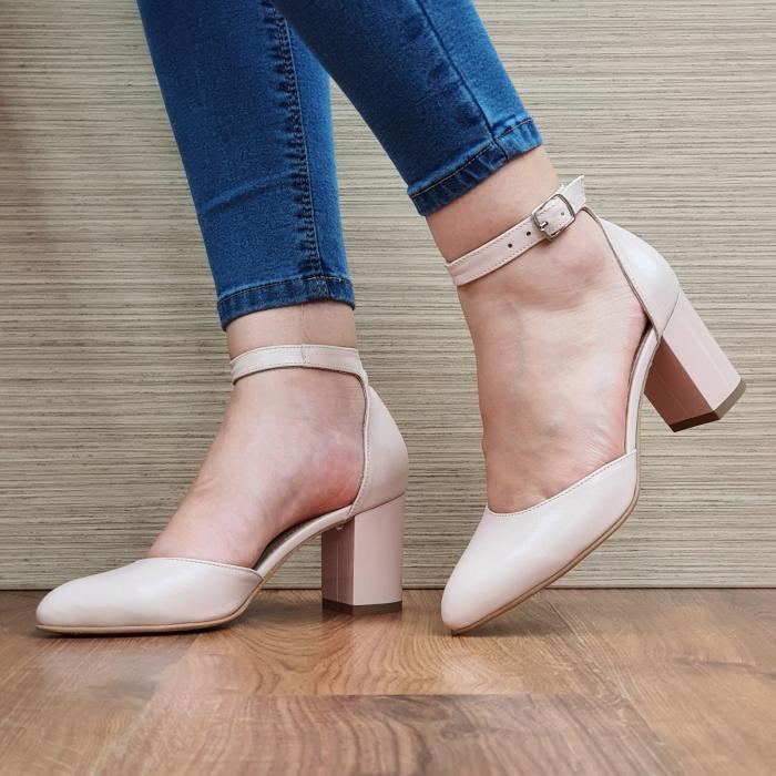 Pantofi Dama Piele Naturala Nude Fiorella D02325 [2]