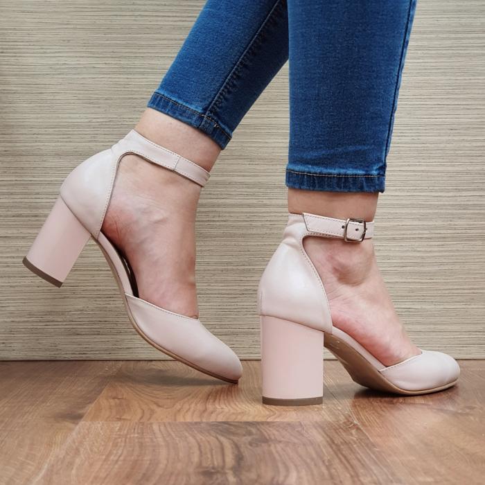 Pantofi Dama Piele Naturala Nude Fiorella D02325 [3]
