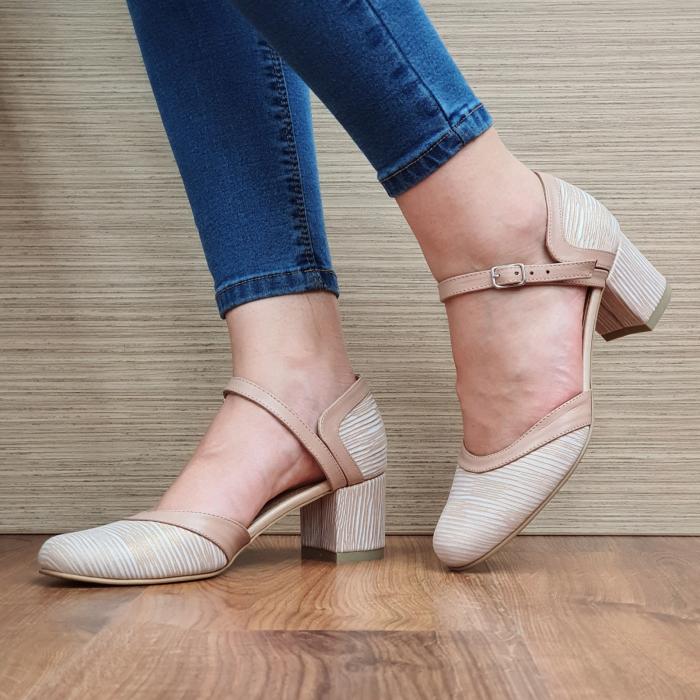 Pantofi Dama Piele Naturala Nude Ethan D02327 0