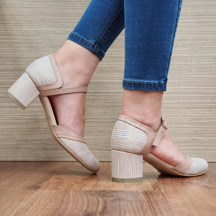 Pantofi Dama Piele Naturala Nude Ethan D02327 3