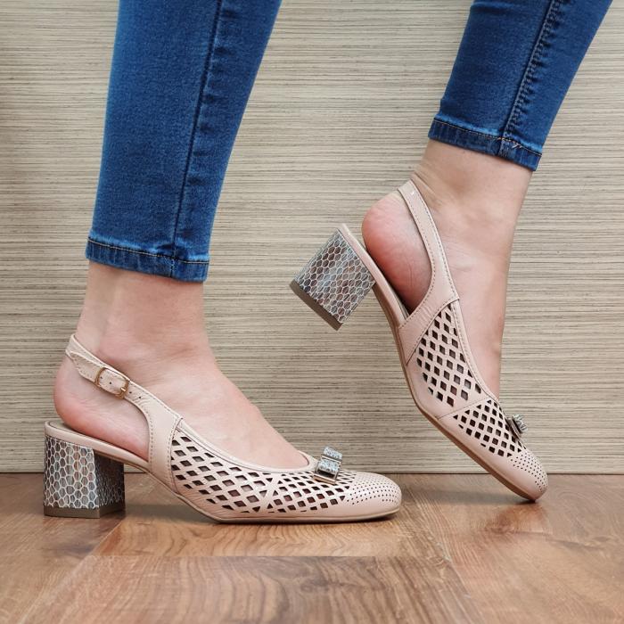 Pantofi Dama Piele Naturala Ara Nude Astrid D02328 0