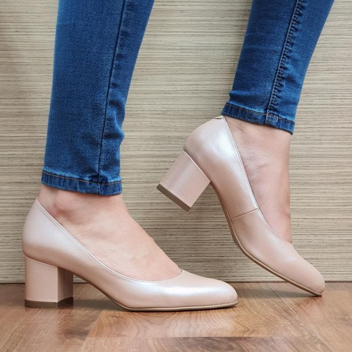 Pantofi cu toc Piele Naturala Nude Emma D02338 [0]