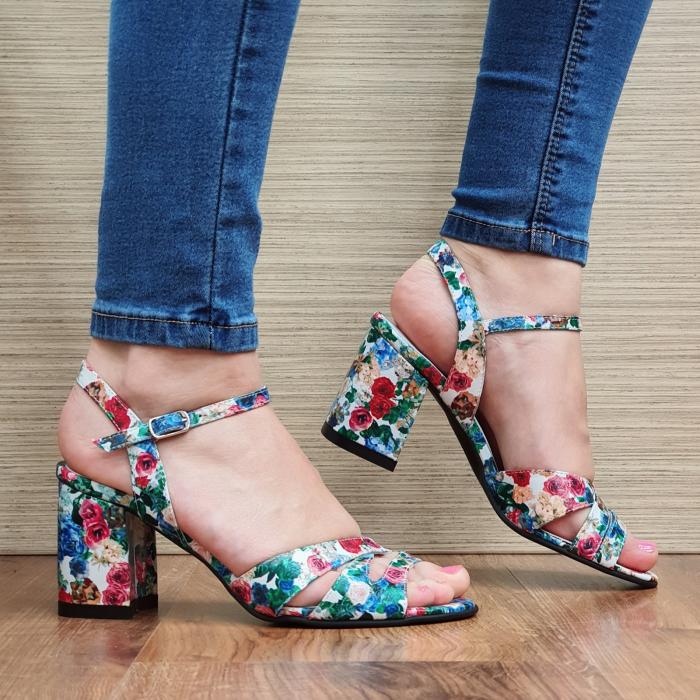 Sandale Piele Naturala Multicolore Erin 0