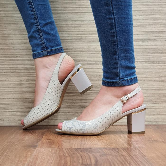 Sandale Piele Naturala Bej Laila 0
