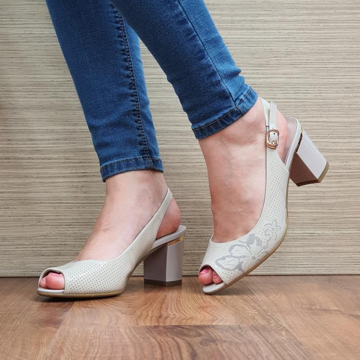 Sandale Piele Naturala Bej Laila 2
