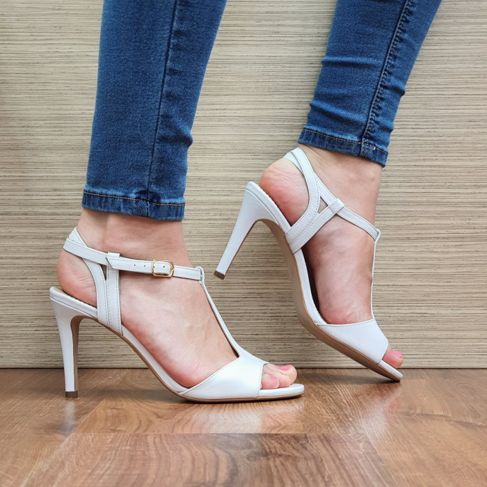 Sandale Piele Naturala Guban Albe Fifi 1
