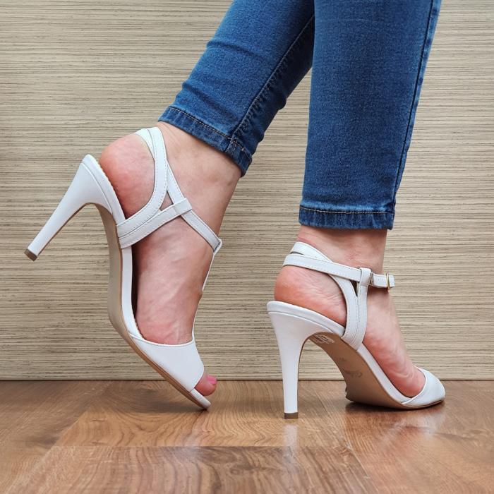 Sandale Piele Naturala Guban Albe Fifi 3