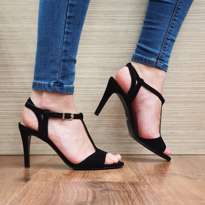 Sandale Piele Naturala Guban Negre Fifi 0