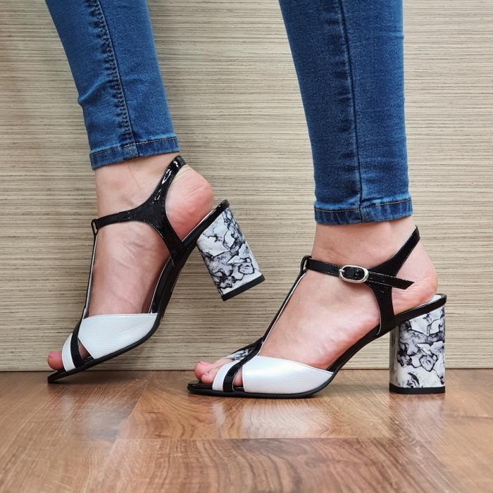 Sandale Piele Naturala Albe Opal 1