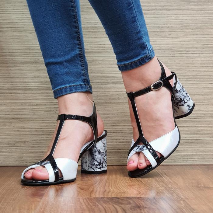 Sandale Piele Naturala Albe Opal 2