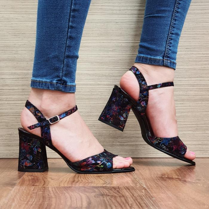 Sandale Piele Naturala Negre Abigail 1