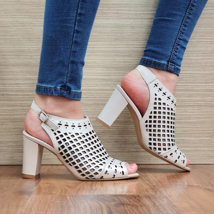 Sandale Piele Naturala Bej Annis [0]