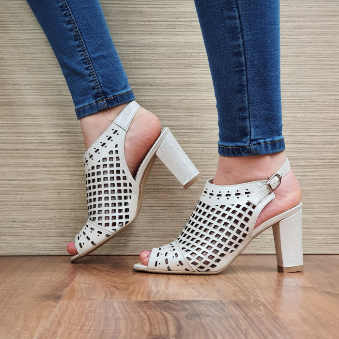 Sandale Piele Naturala Bej Annis [1]