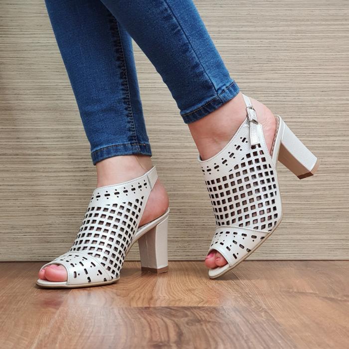 Sandale Piele Naturala Bej Annis [2]