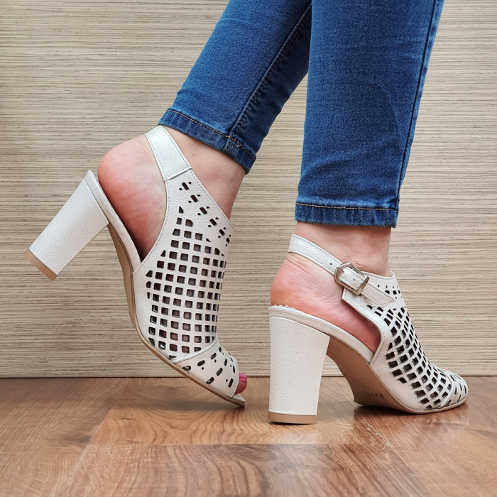 Sandale Piele Naturala Bej Annis [3]