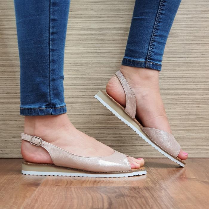 Sandale Piele Naturala Nude Chiara D02354 1