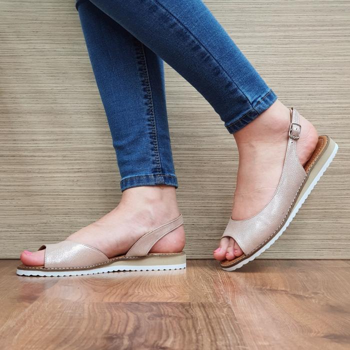 Sandale Piele Naturala Nude Chiara D02354 0