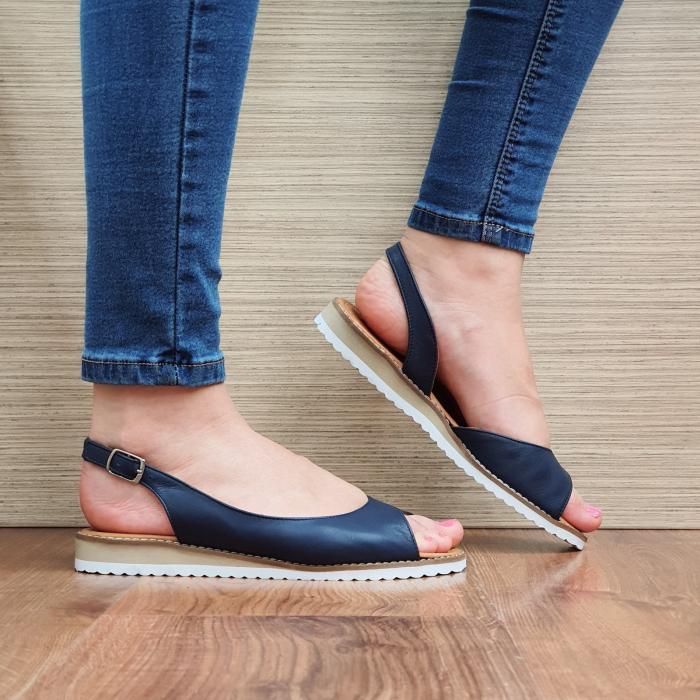 Sandale Piele Naturala Bleumarin Chiara D02355 0