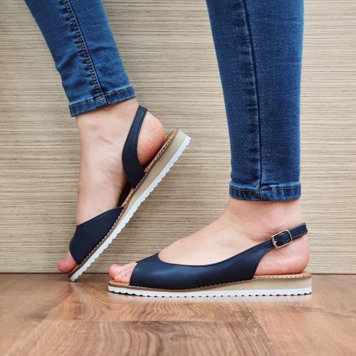 Sandale Piele Naturala Bleumarin Chiara D02355 1