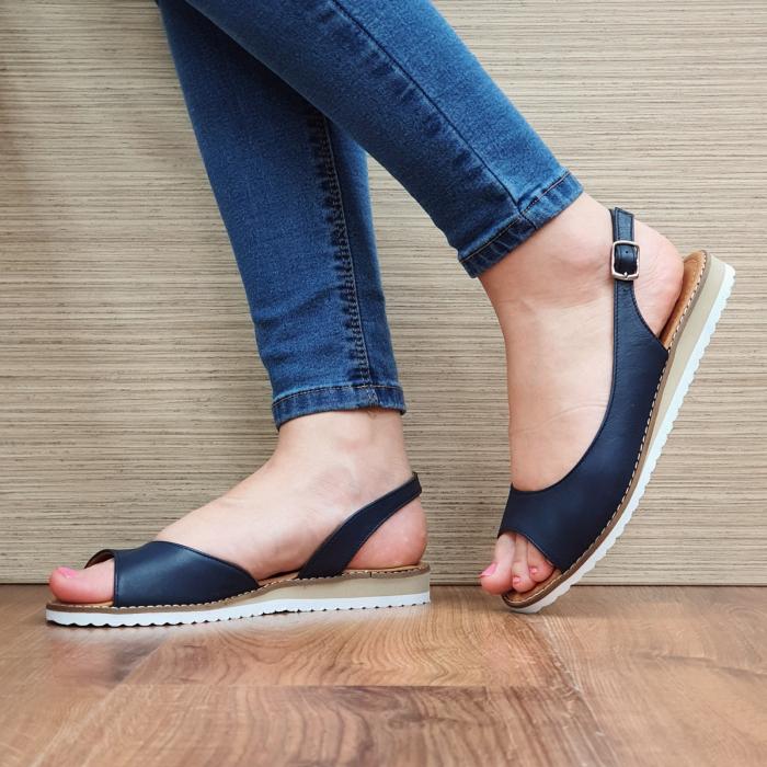 Sandale Piele Naturala Bleumarin Chiara D02355 2