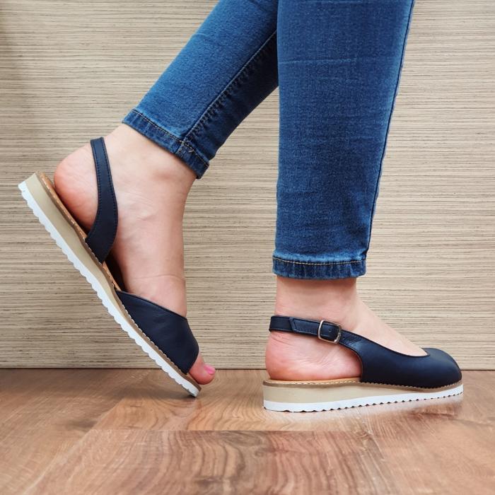 Sandale Piele Naturala Bleumarin Chiara D02355 3