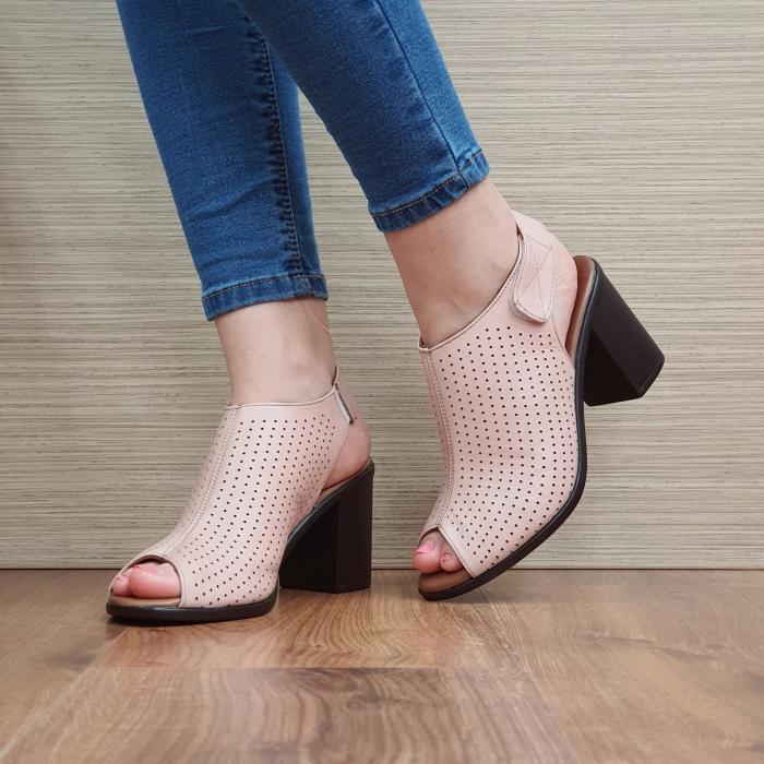Sandale Piele Naturala Nude Lara 2