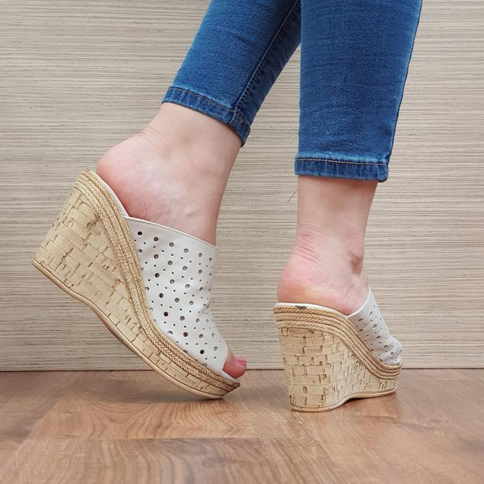 Papuci Piele Naturala Bej Naida D02361 [3]