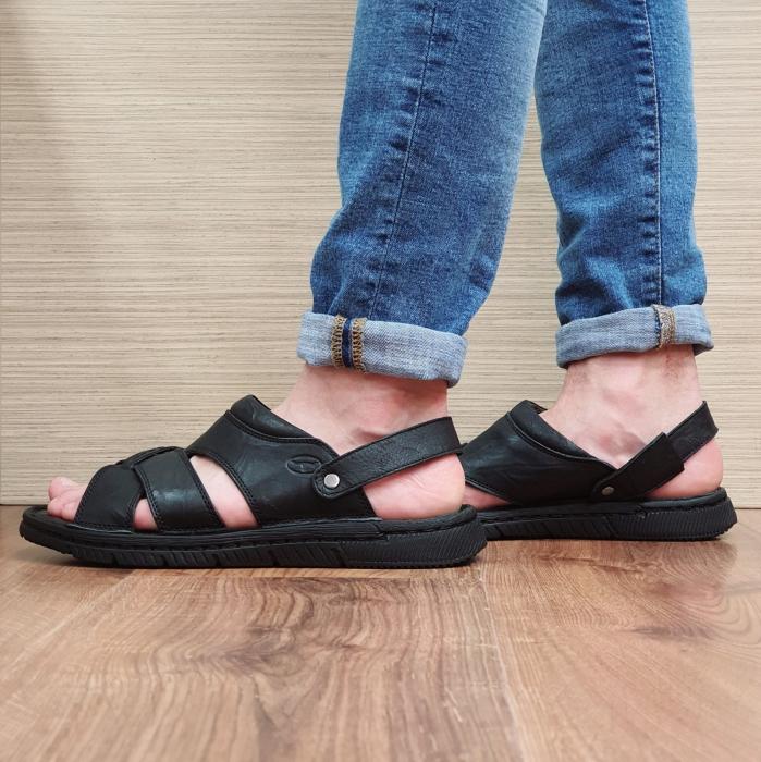 Sandale/Papuci Barbati Piele Naturala Negri Avram B00054 1