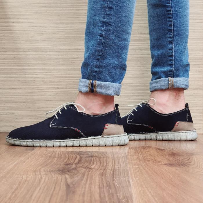 Pantofi Casual Barbati Piele Naturala Bleumarin Arnav B00057 1