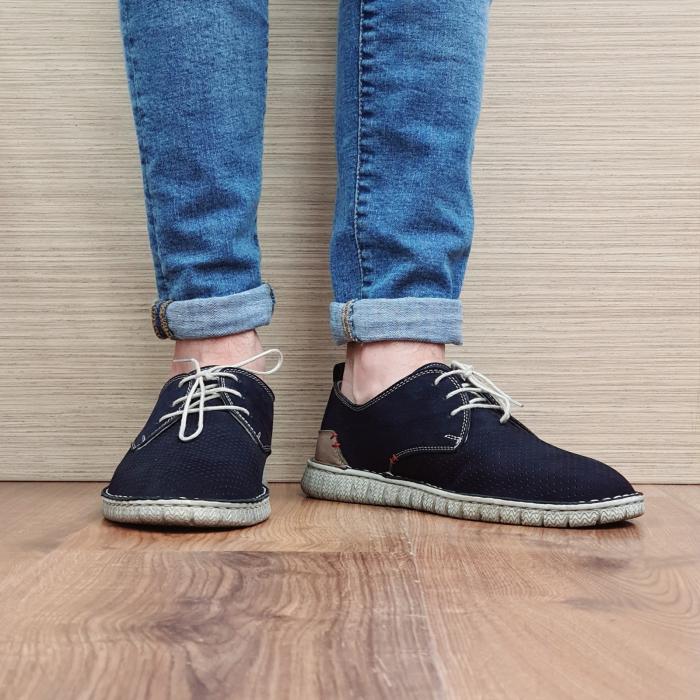 Pantofi Casual Barbati Piele Naturala Bleumarin Arnav B00057 2