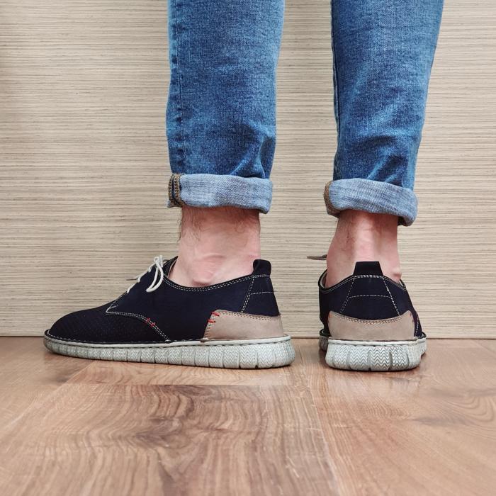 Pantofi Casual Barbati Piele Naturala Bleumarin Arnav B00057 3