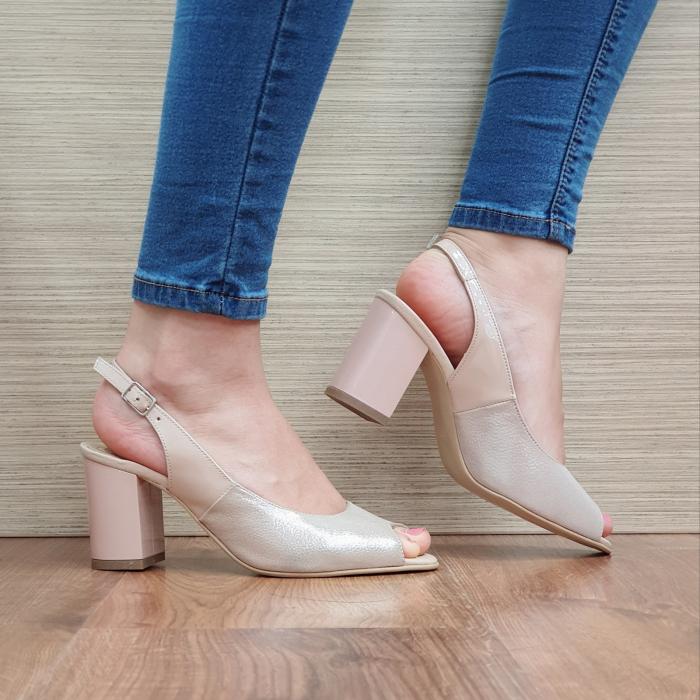 Sandale Piele Naturala Nude Rosalinda [0]