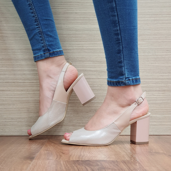 Sandale Piele Naturala Nude Rosalinda [1]