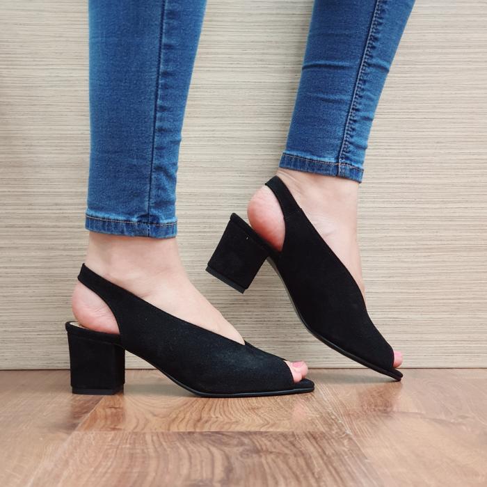 Sandale Piele Naturala Negre Alysa 0