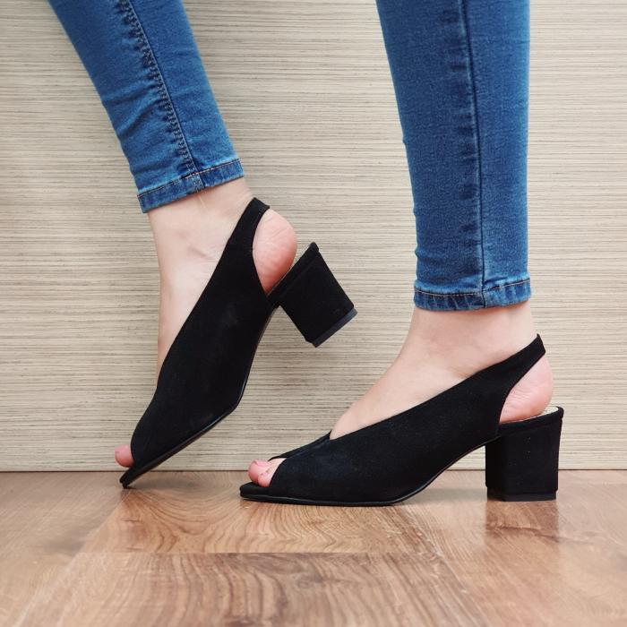 Sandale Piele Naturala Negre Alysa 1