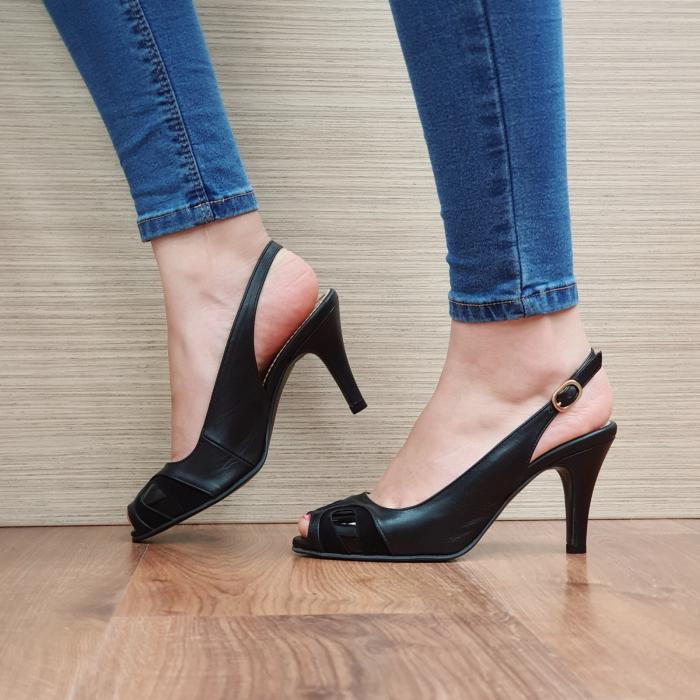 Sandale Piele Naturala Guban Negre Luise 1