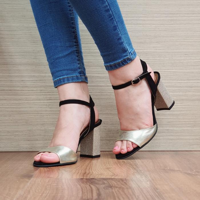 Sandale Piele Naturala Negre Sona [0]
