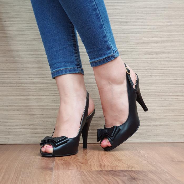 Sandale Piele Naturala Guban Negre Alysa [2]