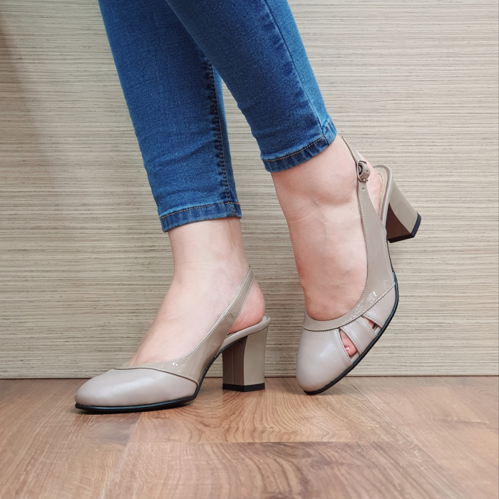 Sandale Piele Naturala Grej Salma [2]