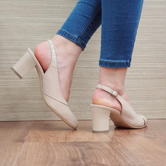 Sandale Piele Naturala Bej Salma [3]