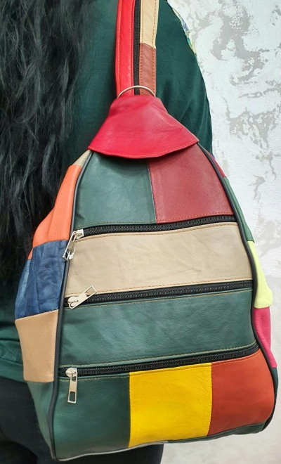 Rucsac Dama Piele Naturala Multicolor Seana G00164 0