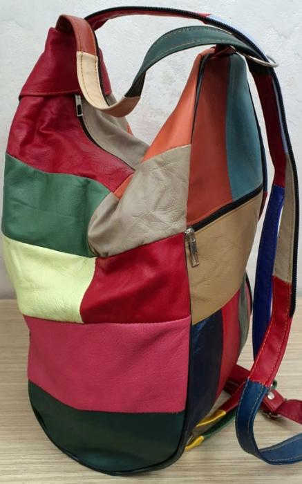 Rucsac Dama Piele Naturala Multicolor Seana G00164 1