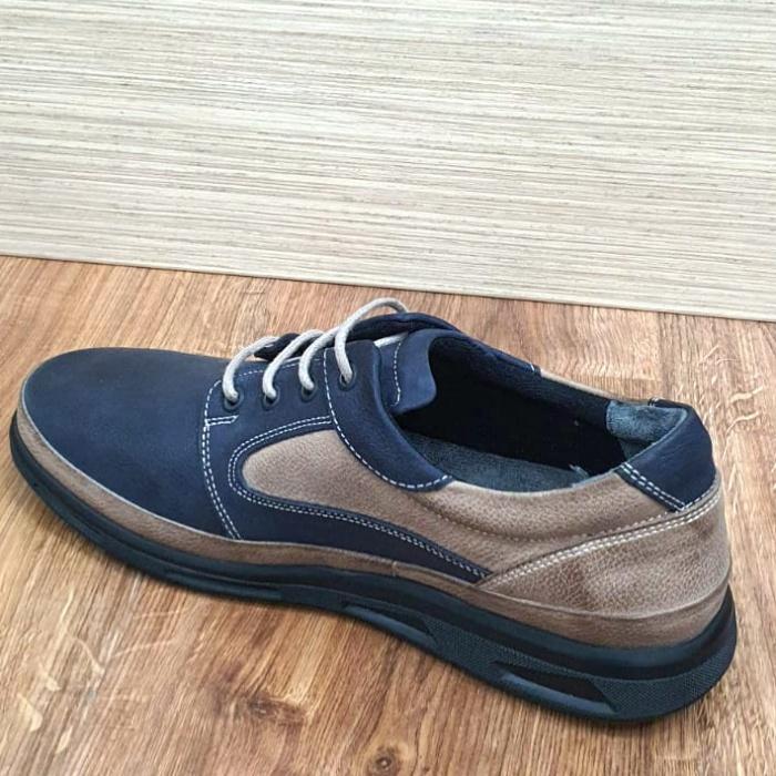 Pantofi Barbati Casual Piele Naturala Bleumarin Albert B00062 5