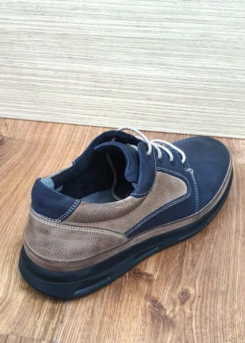 Pantofi Barbati Casual Piele Naturala Bleumarin Albert B00062 6